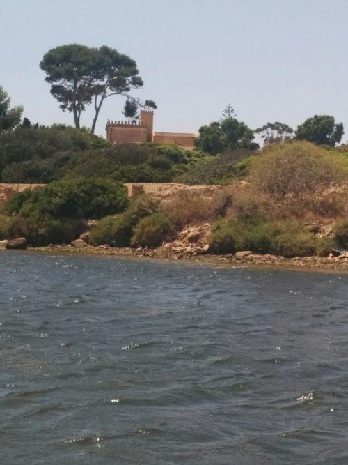 Mozia oder Isola San Pantaleo mit Blick auf das Museum