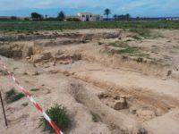 Ausgrabungsstelle im archäologischen Park Marsala