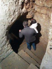 Treppenabgang zur Kapelle