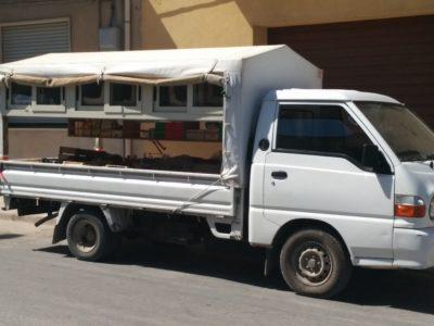 Verkaufswagen von Haus zu Haus