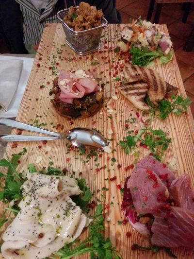 Fischplatte im Restaurant Baglio Dei Mille