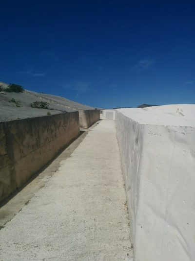 Straßenverlauf in Gibellina Vecchia