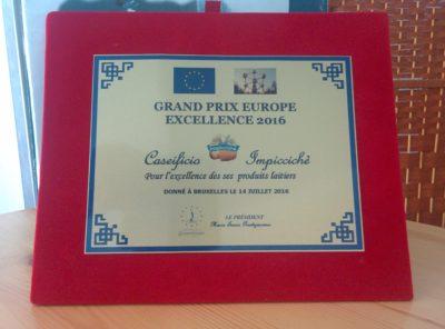 Großer Europäischer Preis 2016 für seine Milchprodukte