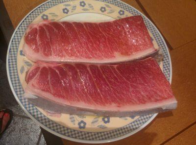 Frischer roter Thunfisch