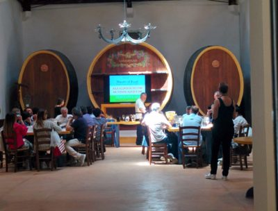 Geführte Weinprobe im großen Saal