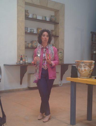 Josè Rallo bei der Präsentation ihres Lieblingsweines