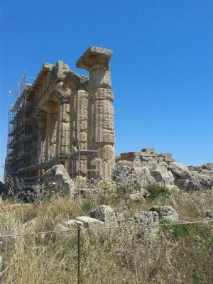 Die Reste der Akropolis