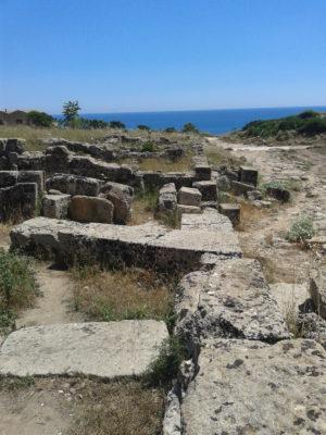 Reste der Wohnsiedlung um die Akropolis