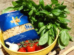 Grundzutaten für Pasta col Matarocco