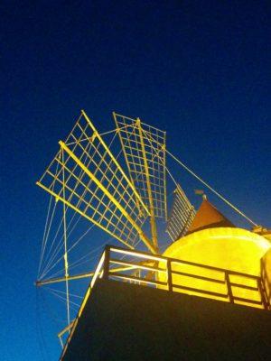 Windmühle bei den Salinen von Marsala