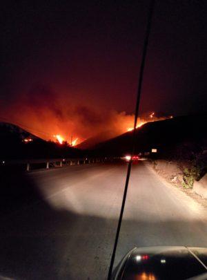 Brennender Berg bei Custonacci
