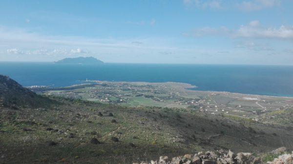 Blick auf den hinteren Teil von Favignana