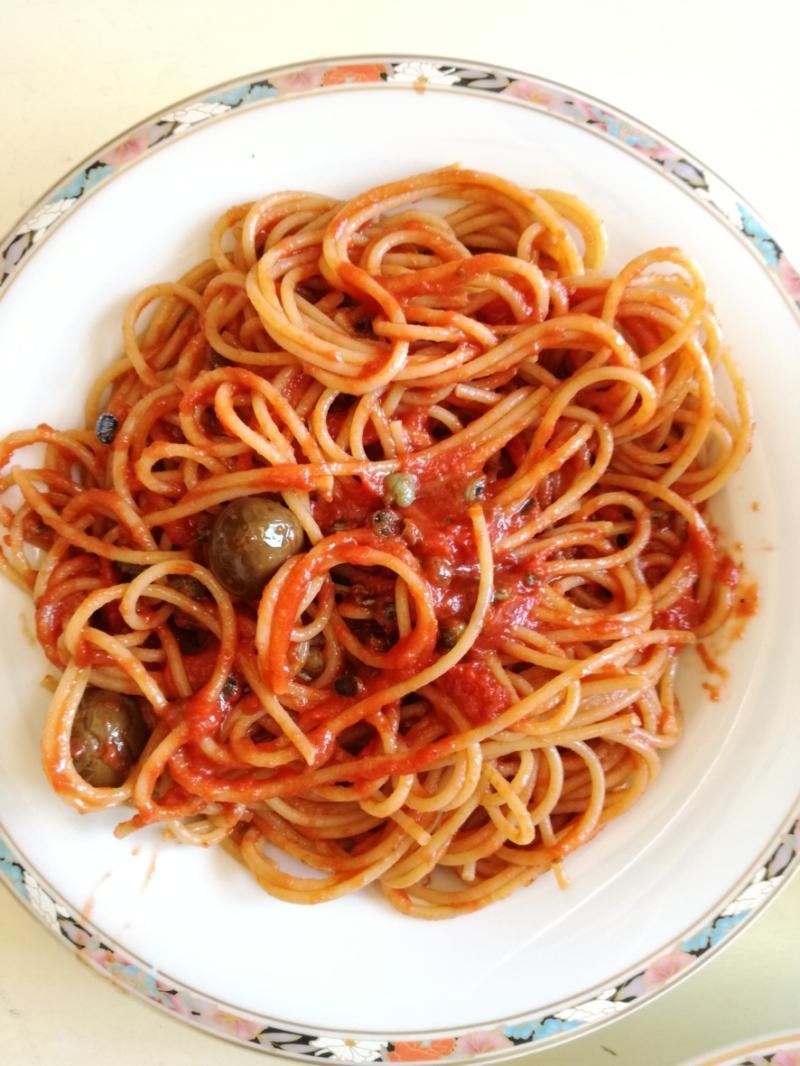 Spaghetti mit selbst gesammelten Patelle