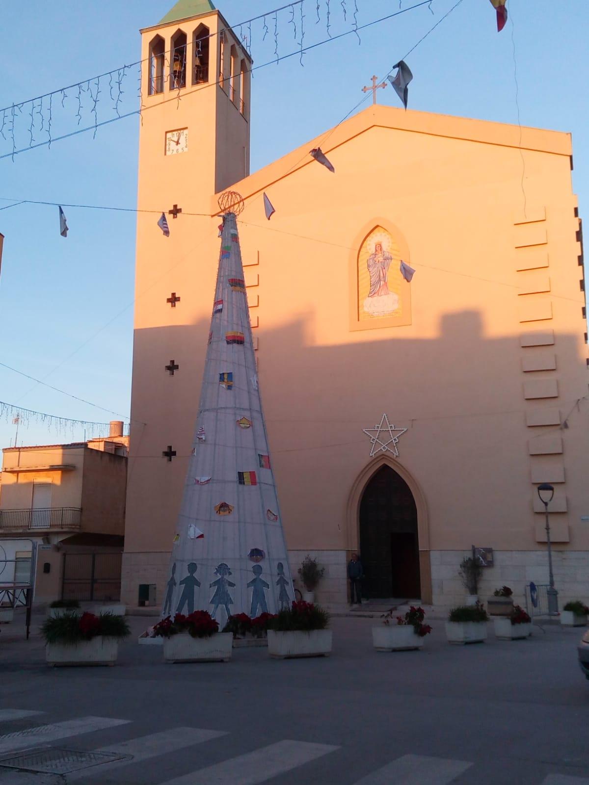 Weihnachtsbaum Drahtgestell.Frohe Weihnachten Buon Natale Hallo Sizilien