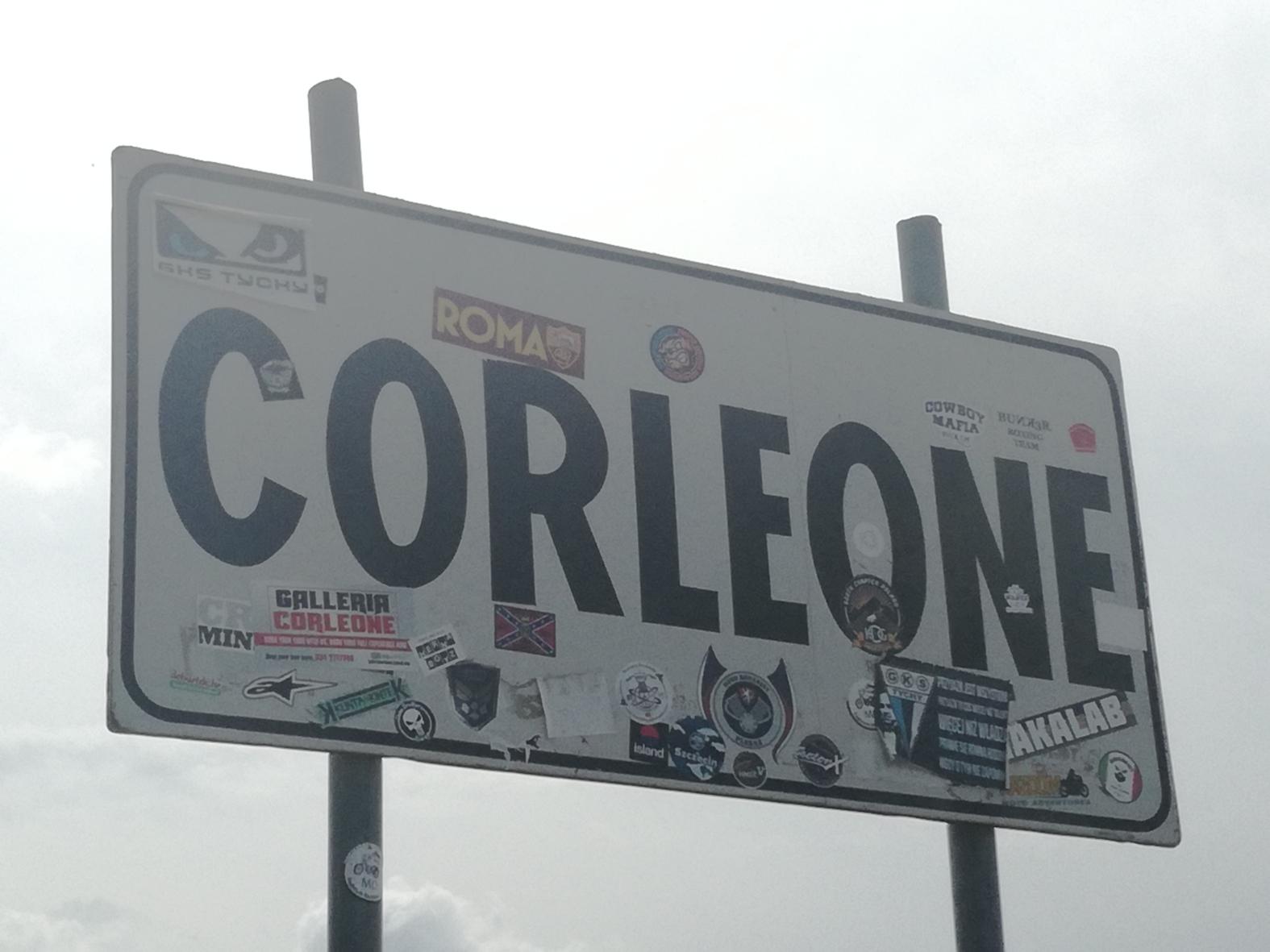 Ortsschild Corleone